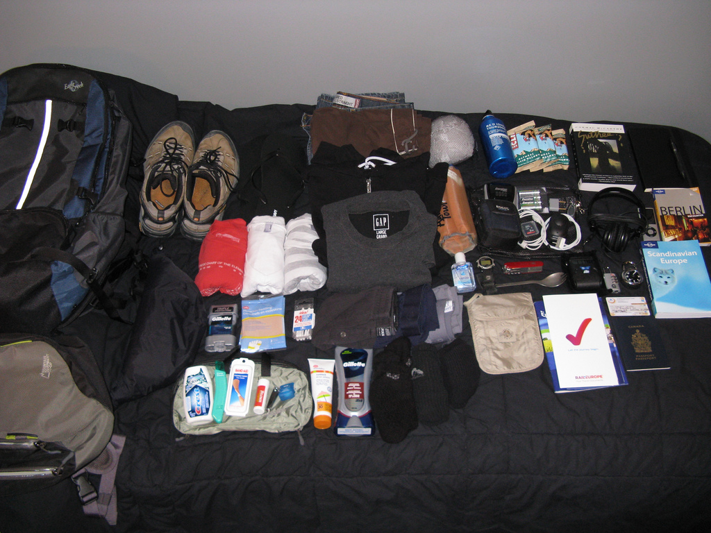 Downsizing Before Your Travels is vital so you can fit your belongings in a backpack ... photo by CC user stevecoutts on Flickr