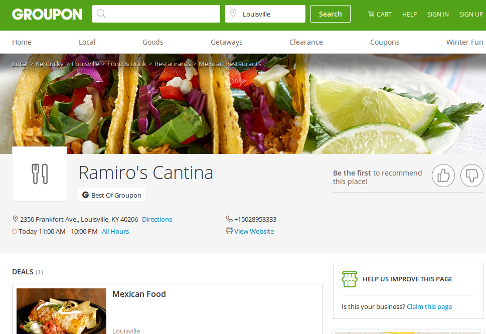 Groupon gets creative with business listings & coupons
